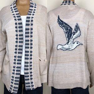 OBEY Propaganda Seagull Open Cardigan Sweater